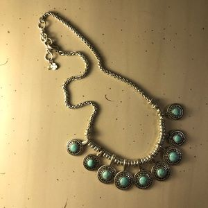 Lucky Brand Silver Turquoise Necklace